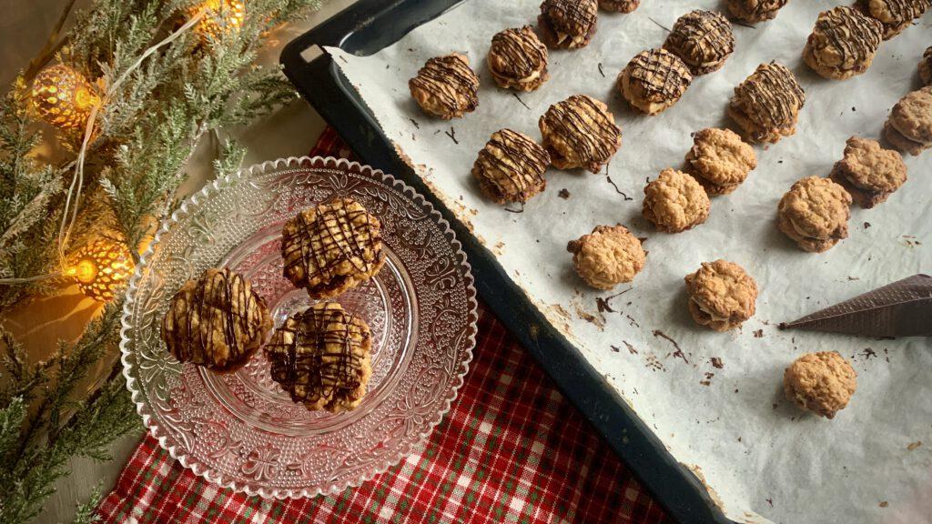 Haferflocken-Erdnussbutter-Plätzchen